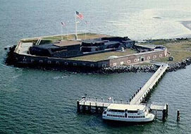 At Fort Sumter, totality on August 21, 2017, begins at 2:46 PM and finishes at 2:48 PM.