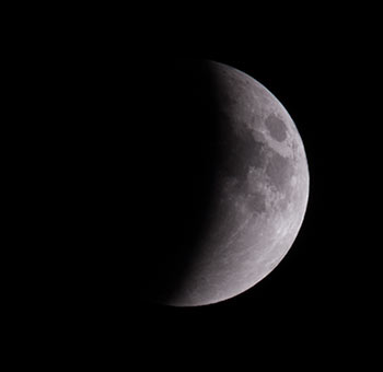 Moon during Lunar Eclipse on September 27, 2015. Photo by Mark D Phillips
