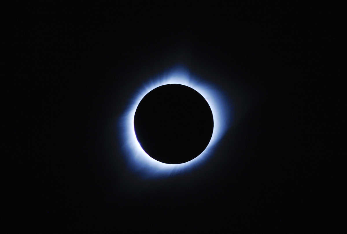 Corona during Totality at Carhenge