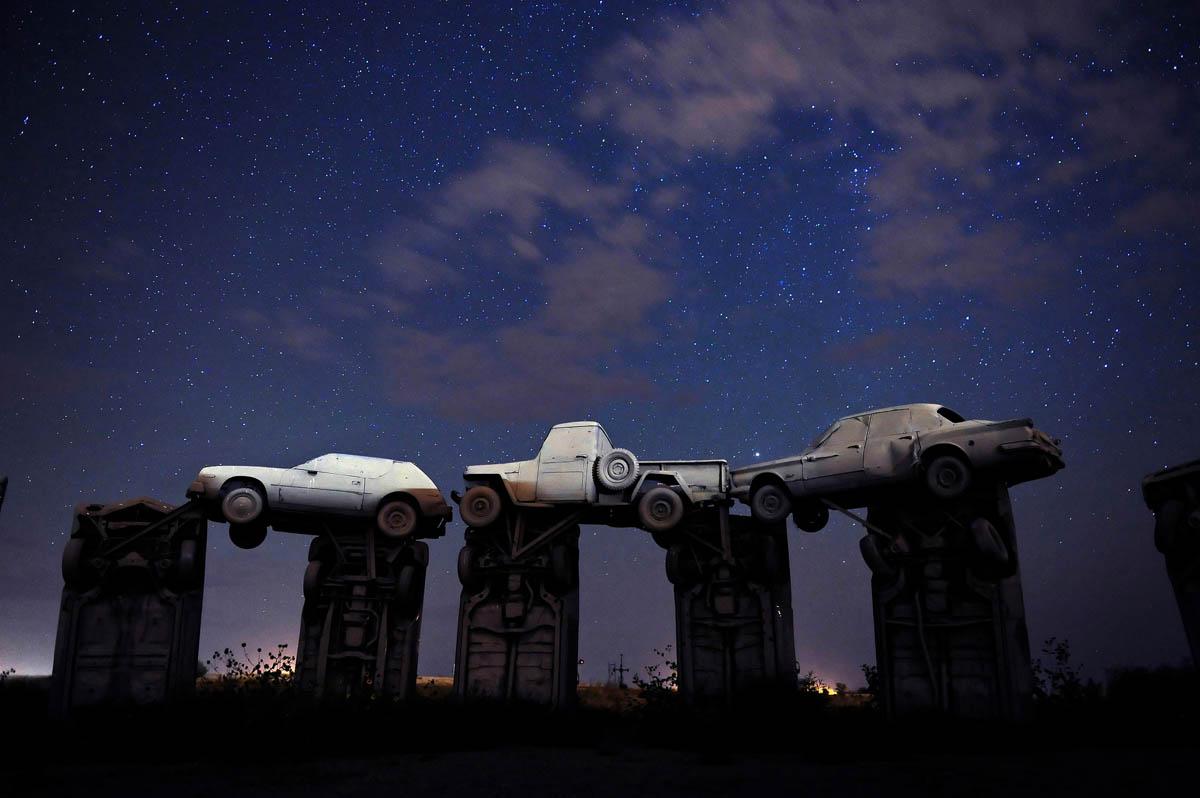 Carhenge Sculpture in Alliance, Nebraska replicates England's Stonehenge. ©Chuck Bigger