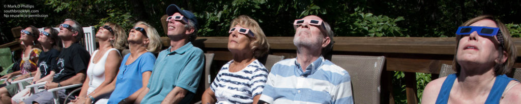 Watching the partial eclipse leading to totality requires special glasses or viewing instruments.
