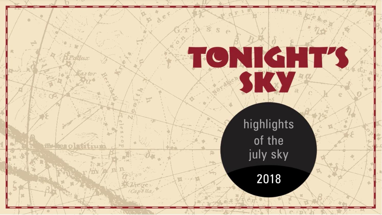 The night sky tonight