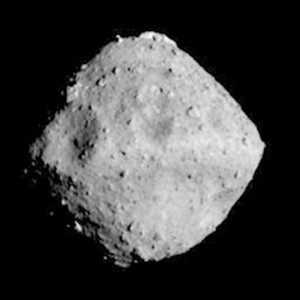 The asteroid Ryugu that Hayabusa2 was expected to reach as its target.
