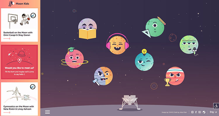 SpaceIL launchesMOON KIDS, an interactive website designed for kids