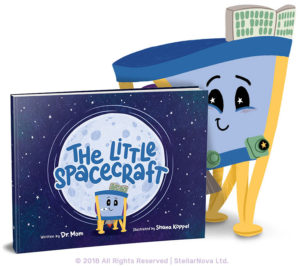 """The Little Spacecraft,"" by StellarNova's Dr. Mom, is the story of Berrie, a toy spacecraft based on SpaceIL's real spacecraft Beresheet."